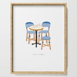 Paris, France | Parisian Cafe Chairs Serving Tray