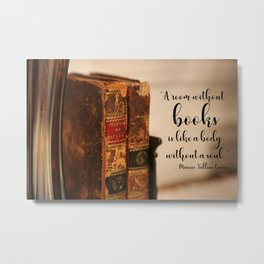A room without books Metal Print