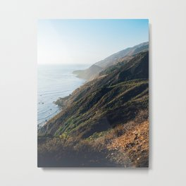 Cliff Coast Sea Hikingtrail Metal Print