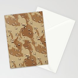 Desert Camouflage Stationery Cards