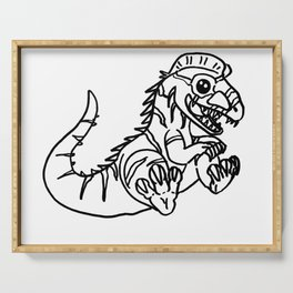 Dilophosaurus Sketch Serving Tray