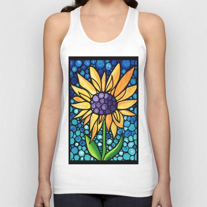 Standing Tall - Sunflower Art By Sharon Cummings Unisex Tanktop