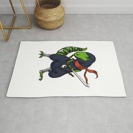 Ninja T-Rex Dinosaur Samurai Warrior Rug