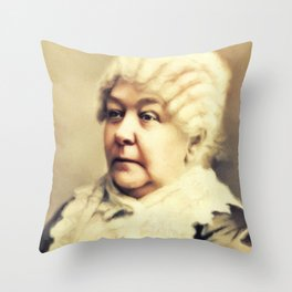 Elizabeth Cady Stanton, Political Activist - Feminist Throw Pillow
