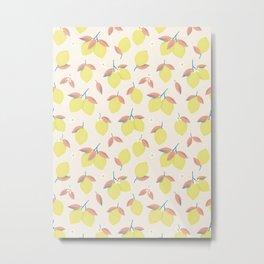 Lemons pattern Metal Print