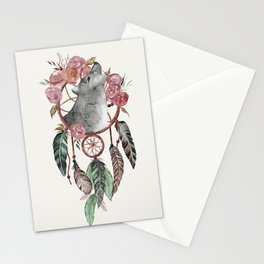 Wolf Dream Catcher Stationery Cards