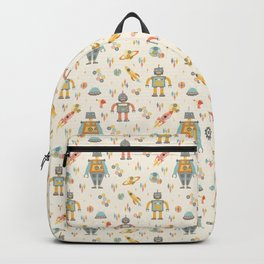 Vintage Inspired Robots in Space Backpack