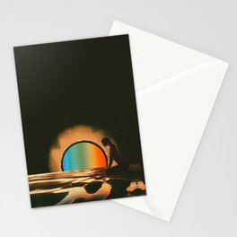 Sunset meditate Stationery Cards