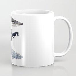 Orca, humpback and grey whales Coffee Mug