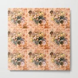 floral old peach Metal Print