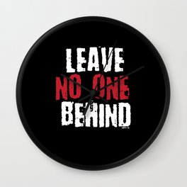 Leave no one behind | Tolerance Gift Wall Clock