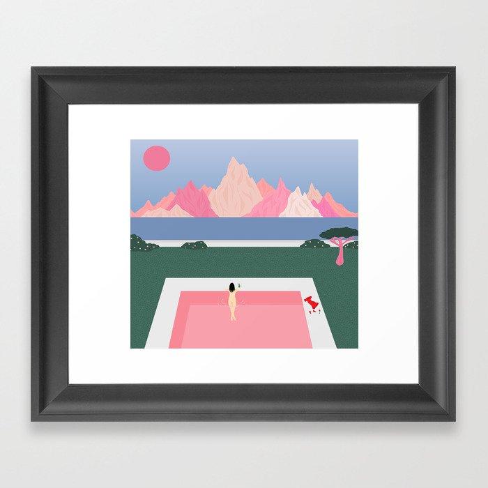 Poolside Views Gerahmter Kunstdruck