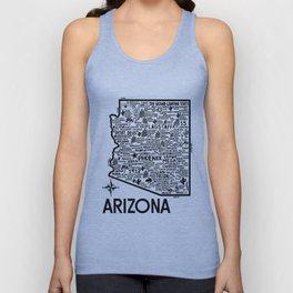Arizona Map Unisex Tank Top