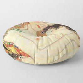 Mother and Baby - Gustav Klimt Floor Pillow