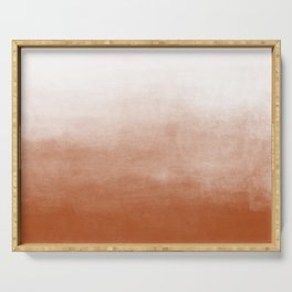 Ombre Paint Color Wash (burnt orange/white) Serving Tray