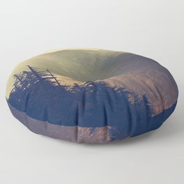 Sunrise over the Mountians Floor Pillow