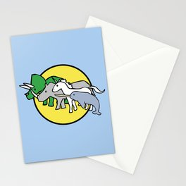 Horned Warrior Friends (unicorn, narwhal, triceratops, rhino) Stationery Cards