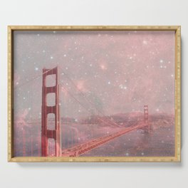 Stardust Covering San Francisco Serving Tray