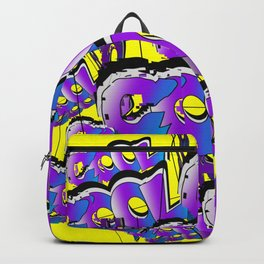 Cool Graffiti Typography Lettering Art / GFTTypography003 / Yellow Backpack