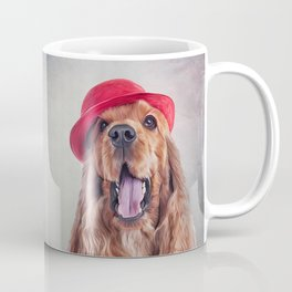 Drawing dog English Cocker Span portrait Coffee Mug