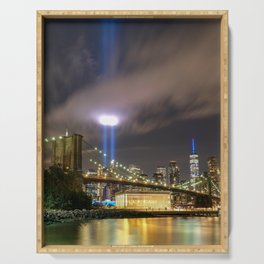 September 11 Tribute Lights Serving Tray