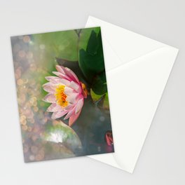 Water lily on a sunny day Stationery Cards