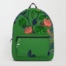 Peacock,floral art Backpack