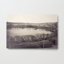 1858 Providence Cove, Grand Point, College Hill Photograph, Providence, Rhode Island Metal Print