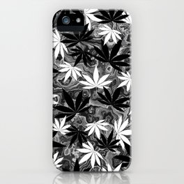 Black And White Weed iPhone Case