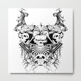 Skull And Cross Swords Metal Print