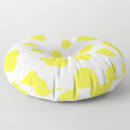 Yellow Cow Print Background Floor Pillow