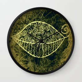 ReLeaf Doodle Gold Wall Clock