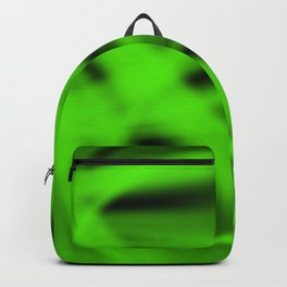 A flowing pattern of smooth green lines on the fibers of the veil with bright luminous transitions. Backpack