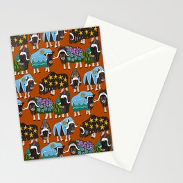 Alaskan musk ox rust Stationery Cards