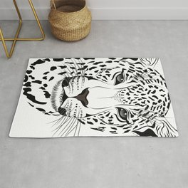 White leopard Rug