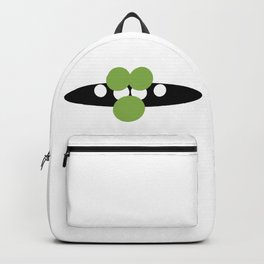 Abstract smiling mouth with green lips Backpack