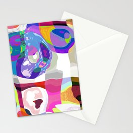 Cheerful Spring Patchwork Mosaic Stationery Cards