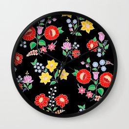 Hungarian repeat - black Wall Clock