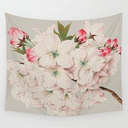 Vintage Japanese Watercolor - Mikuruma Gaeshi Wall Tapestry