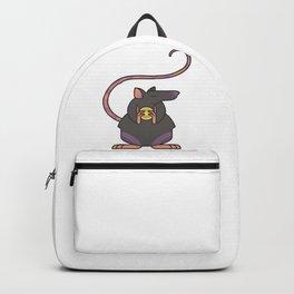 Greedy Rat Illustration Backpack