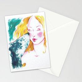 Dog Girl 01 Stationery Cards