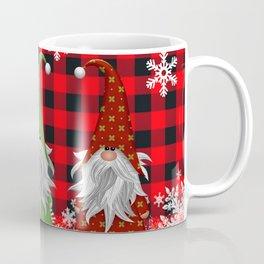 Christmas Gnome Lumberjack Plaid Coffee Mug