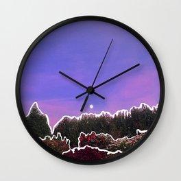 Purple Surreal Wall Clock