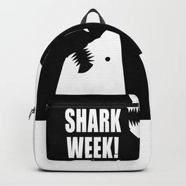 Shark week (on black) Backpack