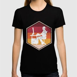 Retro Gamer Hexagon Design T-shirt
