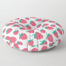 Strawberry Summer Picnic Floor Pillow