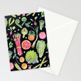 Spring Harvest Pattern Dark Stationery Cards