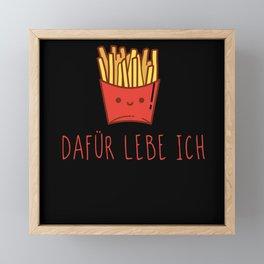 French Fries Framed Mini Art Print