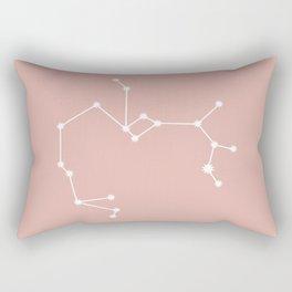 Sagittarius Zodiac Constellation - Pink Rose Rectangular Pillow