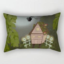 Baba Yaga Forest Folk Art Rectangular Pillow
